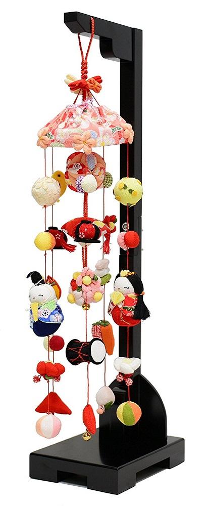 雛人形 吊るし飾り ちりめんつるし雛 小 高さ65cm【ひな人形】【女の子】【楽ギフ_のし】