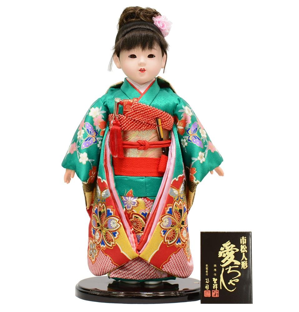 市松人形 金彩友禅 愛ちゃん 13号 【smtb-KD】