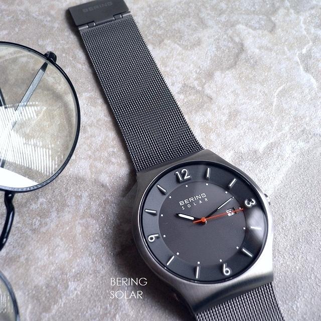 BERING ベーリング メタルバンド ソーラー 腕時計 Solar 14440-077 グレー