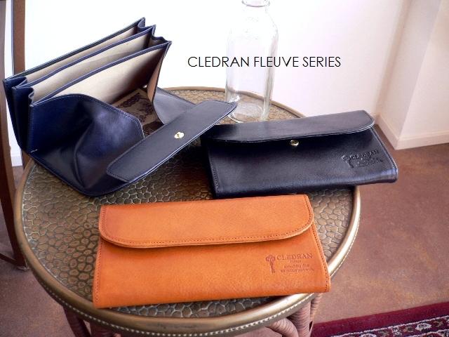 クーポン対象外 ノベルティ&レザークリームプレゼント クレドラン CLEDRAN ギャルソンウォレット レザー 長財布 CL2670 FLEUVE キャメル/ブラウン/ネイビー/ブラック