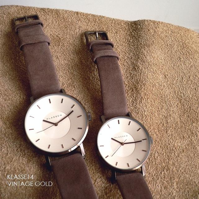正規品 ノベルティプレゼント KLASSE14 クラスフォ-ティーン 腕時計 レザーバンド VOLARE VINTAGE GOLD 36mm 42mm VO18VG001W VO18VG001M ビンテージ ゴールド