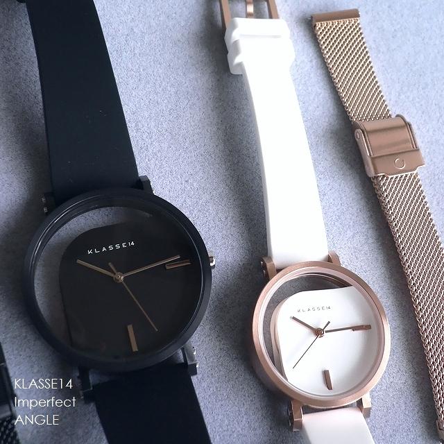 正規品 ノベルティプレゼント KLASSE14 クラスフォ-ティーン 腕時計 バンド2本セット IMPERFECT ANGLE WIM19RG009W WIM19BK011W WIM19BK011M 32mm 40mm ホワイト/ブラック/ピンクゴールド