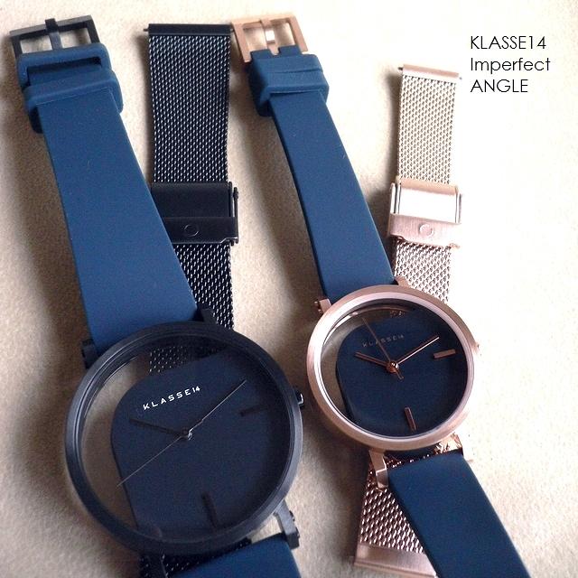 正規品 ノベルティプレゼント KLASSE14 クラスフォ-ティーン 腕時計 シリコン メッシュ バンド2本セット IMPERFECT ANGLE WIM20RG018 WIM20BK014 32mm 40mm ブルー/ネイビー/ブラック/ローズゴールド