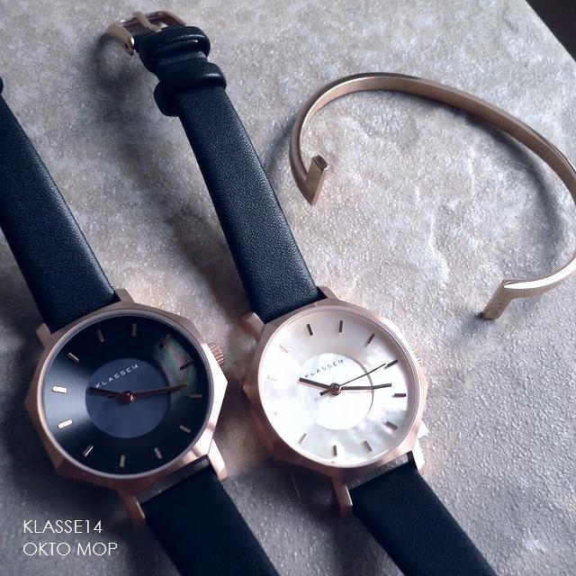 正規品 ノベルティプレゼント KLASSE14 クラスフォ-ティーン 腕時計 レザーバンド Volare OKTO MOP 八角形 白蝶貝 WOK19RG007S WOK19RG009S 28mm ホワイト/ダーク/ブラック/ピンクゴールド