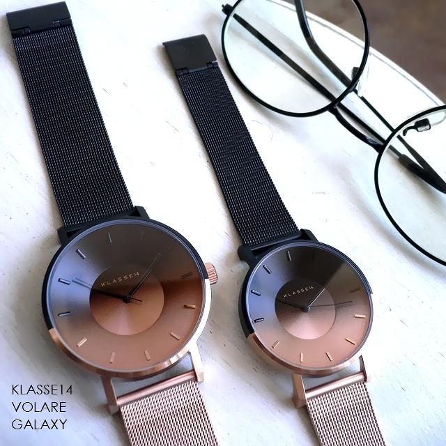 正規品 ノベルティプレゼント KLASSE14 クラスフォ-ティーン 腕時計 メッシュバンド Volare GALAXY Mars WVO19GA003W WVO19GA003M 36mm 42mm ブラック/ローズゴールド/ピンクゴールド