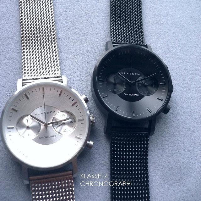 正規品 KLASSE14 クラスフォ-ティーン 腕時計 Volare CHRONOGRAPH メッシュバンド 42mm VO15CH002M VO18CH010M シルバー/ブラック/ダークメタル