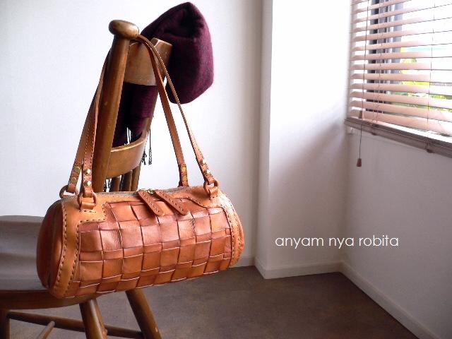 robita(ロビタ)正規取扱店 レザークリームプレゼント robita ロビタ メッシュレザー ミニボストン ドラム AN-217