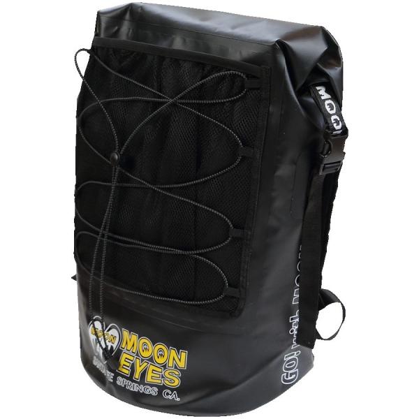 防水デイバッグ/ウォータープルーフ 30-35L ブラック MOONEYES(ムーンアイス) バックパック 送料無料 OMB-008