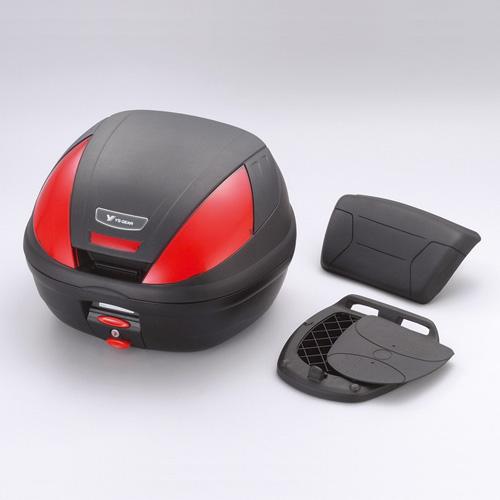 ワイズギア YAMAHA GIVI リアボックス E37 バックレスト付き 未塗装 ブラック あす楽対応 送料無料