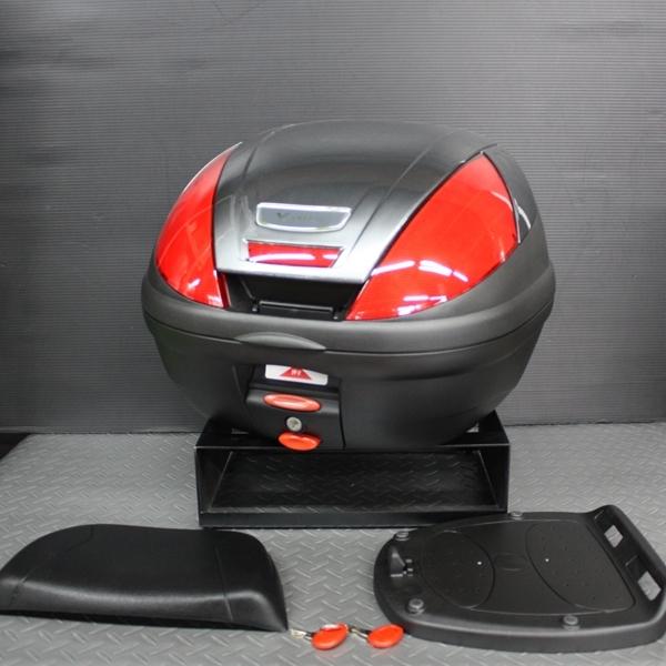 ワイズギア YAMAHA GIVI リアボックス E37 バックレスト付き カラー塗装(グレーメタリックJ) あす楽対応 送料無料