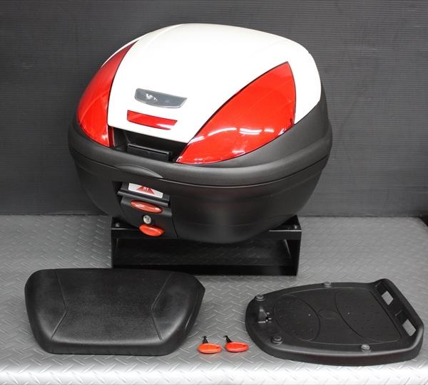 ワイズギア YAMAHA GIVI リアボックス E37 バックレスト付き カラー塗装(シルキーホワイト) あす楽対応 送料無料