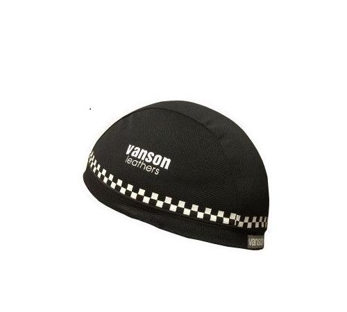 vanson バンソン 本物 お金を節約 VS13607N ライディング インナーキャップ ブラック ポスト投函便 ホワイト フリーサイズ
