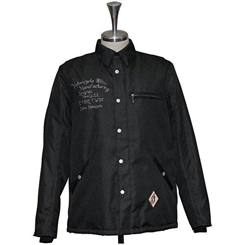 Indian/インディアン 防寒 防風 防水 SIRLOIN ウインタージャケット OIM-090 ブラック/シルバー あす楽対応 送料無料