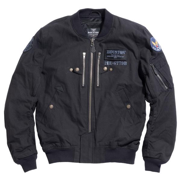HOUSTON(ヒューストン) HTVA-2012SK MA-1 コットンジャケット KATANA(刀) ブラック (2020春夏モデル) あす楽対応 送料無料