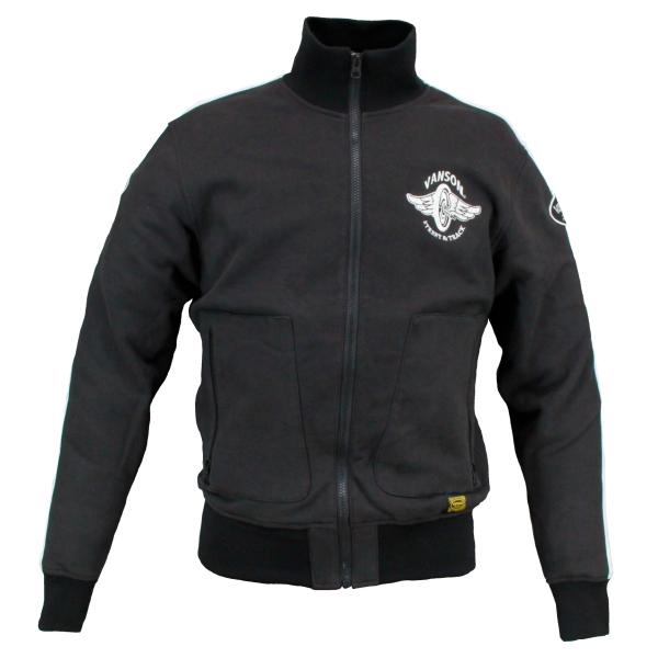 バンソン (特典付) (2020-21秋冬モデル) ブラック/ホワイト スウェットジャケット VS20403W あす楽対応 送料無料
