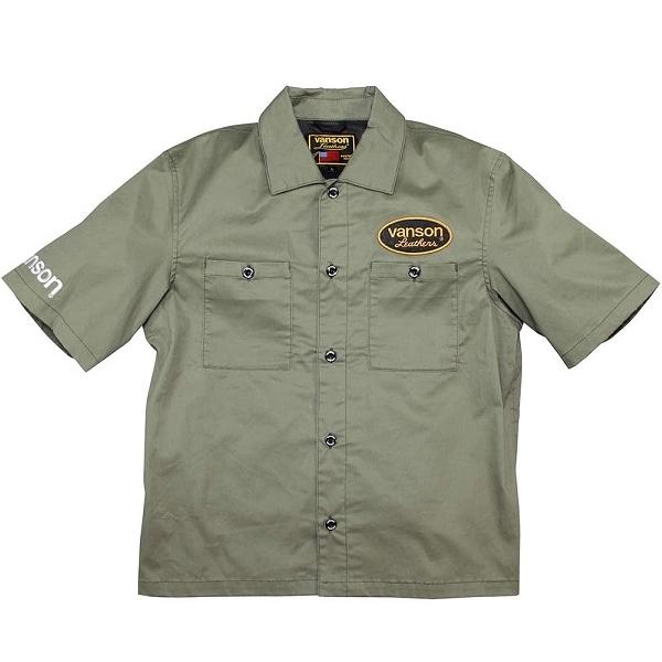 バンソン VS20108S コットン ワークシャツ カーキ (2020春夏モデル) 送料無料