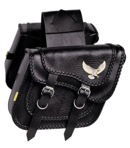 サドルバッグWILLIE&MAX(ウイリー&マックス)BLACK MAGIC COMPACT SLANT SADDLEBAG