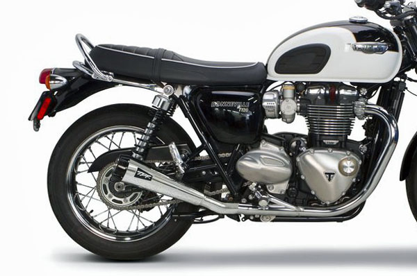2017 BONNEVILLE T100/120用TWO BROTHERS RACING(ツーブラザーズレーシング)COMP-S DUALスリップオン ポリッシュ