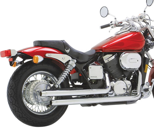 VT750DC SHADOW SPIRIT用VANCE&HINES(バンス&ハインズ)STRAIGHTSHOTS EXHAUST SYSTEM