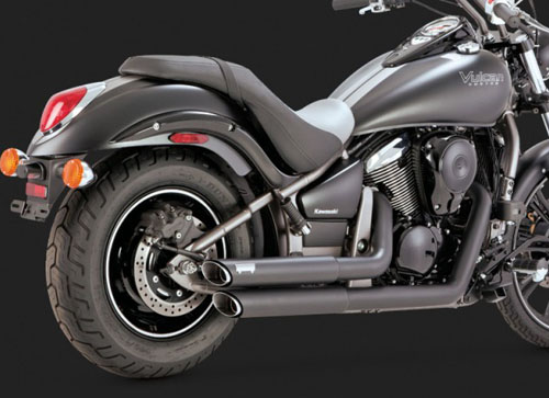 VN900 VULCAN CLASSIC用VANCE&HINES(バンス&ハインズ)TWIN SLASH STAGGERED BLACK