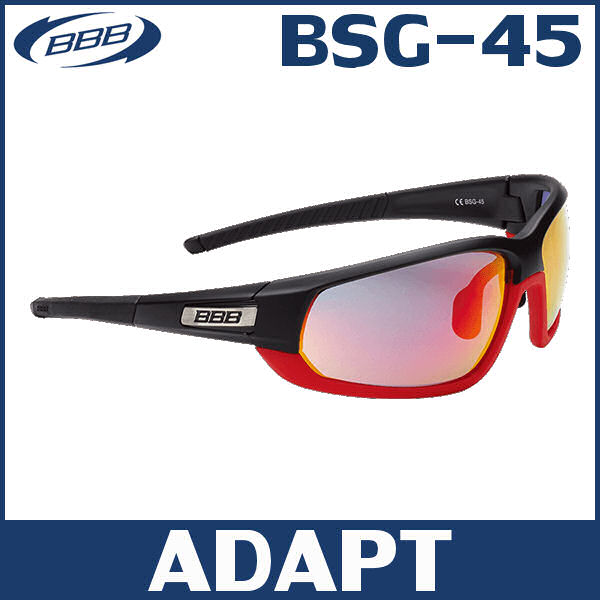 BBB アダプト BSG-45 マットブラック/マットレッド/PCレッドMLC (131342) ADAPT サングラス 02P03Dec16