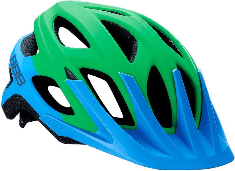 (BBB)ヘルメット BHE-67 VARALLO バラロ (マットブルー/グリーン)(サイクルヘルメット)