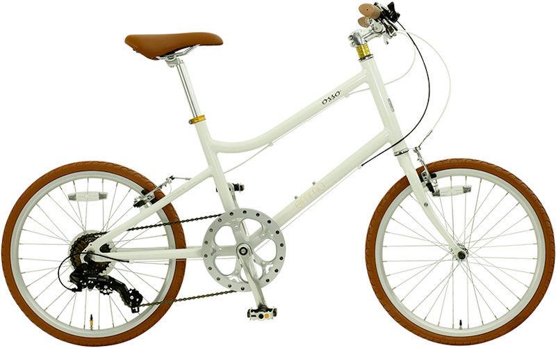 ミニベロ OSSO 18E310MV-AL emma (ホワイト) オッソ 18 E310MV AL エマ 20インチ 小径自転車