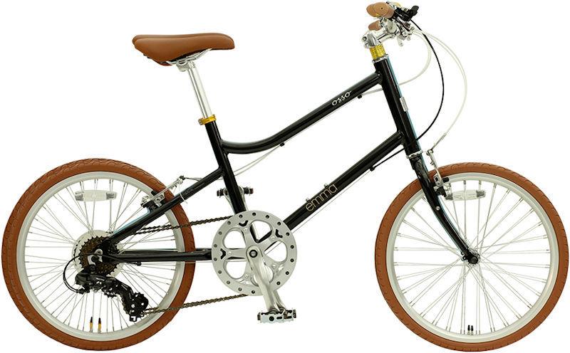 ミニベロ OSSO 18E310MV-AL emma (マットブラック) オッソ 18 E310MV AL エマ 20インチ 小径自転車