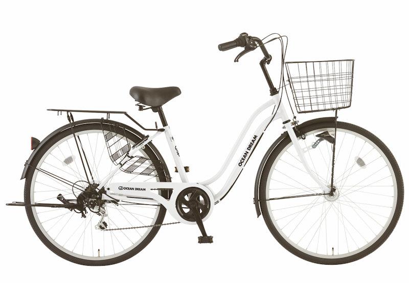 シティサイクル シオノ オーシャンドリーム 26 外装6段 オートライト (スノーホワイト) 2020 SHIONO OCEAN KARA DREAM 266 塩野自転車