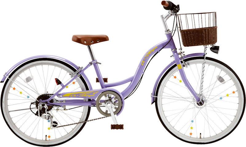 子供用自転車 シオノ エイシア 20 外装6段 オートライト (ラベンダー) 2020 SHIONO ASIA 206 塩野自転車 シティサイクル