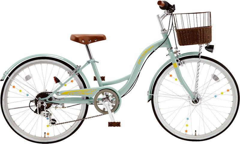 子供用自転車 シオノ エイシア 20 外装6段 オートライト (サワーグリーン) 2020 SHIONO ASIA 206 塩野自転車 シティサイクル