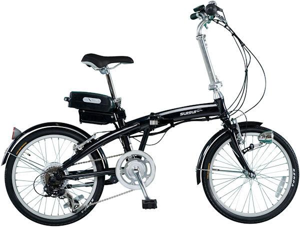 ミムゴ スイスイ 20インチ電動アシスト折り畳み自転車 6段変速 (ブラック) BM-A30BK MIMUGO SUISUI フォールディングバイク 365 【送料無料・メーカー直送・代引き不可】