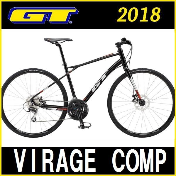 クロスバイク GT VIRAGE COMP (ブラック) 2018 ジーティー ヴィラージュ コンプ