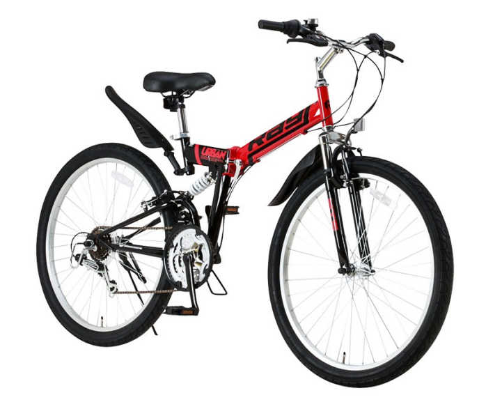 【送料無料・メーカー直送・代引不可】折り畳み自転車 26インチ18段変速 Wサスペンション付 折りたたみ自転車 MTB-2618RR 2017 (OTOMO Raychell MTB-2618RR)