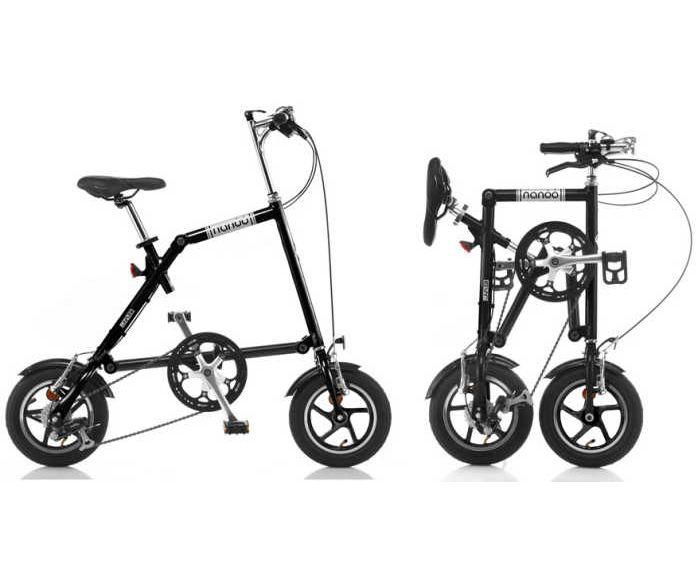 【送料無料・メーカー直送・代引不可】NANOO FD-1207 アルミ 折り畳み自転車 12インチ7段変速 折りたたみ自転車 コンパクト