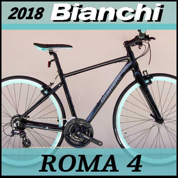 ビアンキ クロスバイク ローマ4 (ブラック) Bianchi ROMA4 2018 02P03Dec16