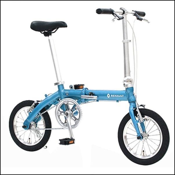 折り畳み自転車 RENAULT LIGHT8 14インチ AL折りたたみバイク ラグーンブルー ルノー