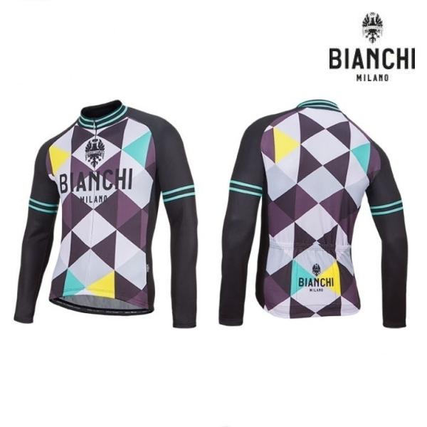 Bianchi MILANO ビアンキミラノ FWジャージ LEGGENDA1 / パープル4010 / サイクルウエア 長袖ジャージ