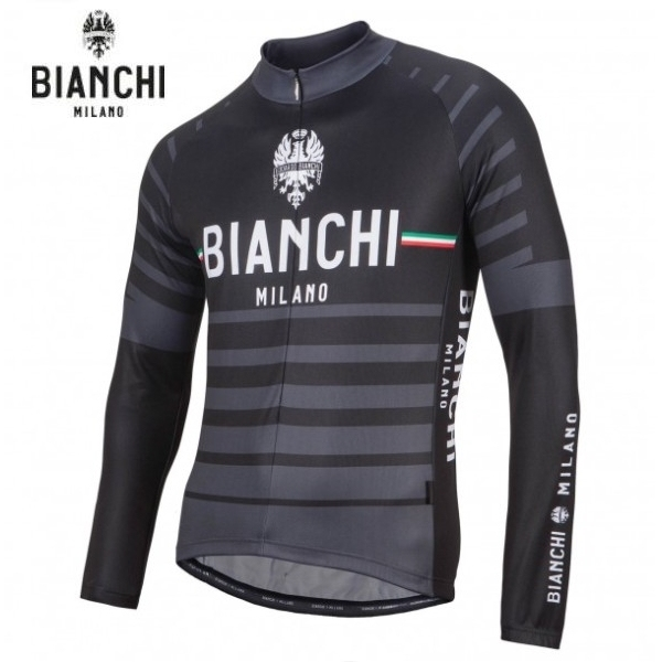 Bianchi MILANO ビアンキミラノ FWジャージ SUCCISO / ブラック4000 / サイクルウエア 長袖ジャージ