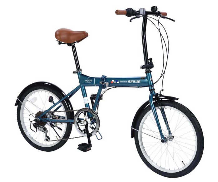 折り畳み自転車 20インチ6段変速付き折りたたみ自転車 マイパラスM-208 (MYPALLAS M-208) 折畳み自転車【送料無料・メーカー直送・代引不可】