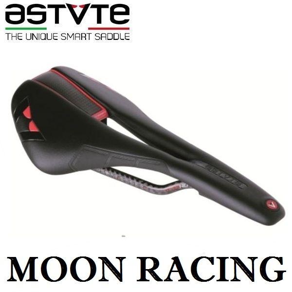 アスチュート ムーン レーシング (ブラック/レッド) ASTVTE MOON RACING 穴あき 自転車 サドル