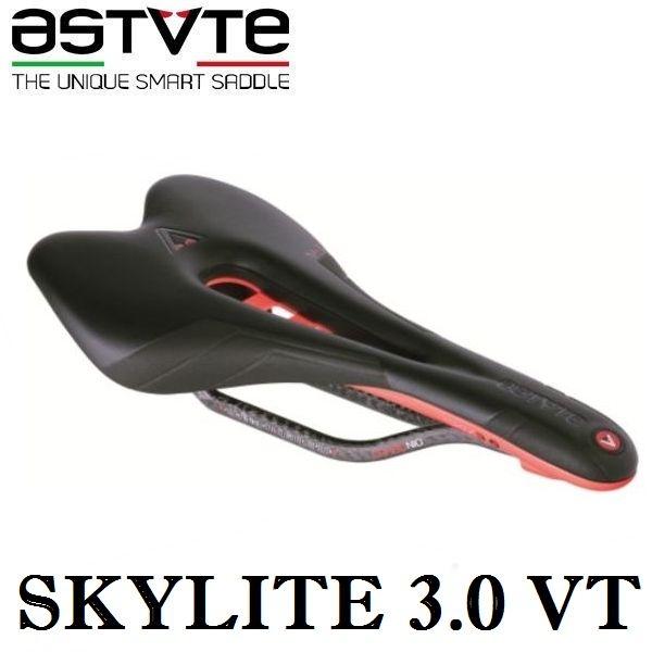アスチュート スカイライト 3.0 VT (ブラック/オレンジフルオ) ASTVTE SKYLITE 3.0 VT 穴あき 自転車 サドル
