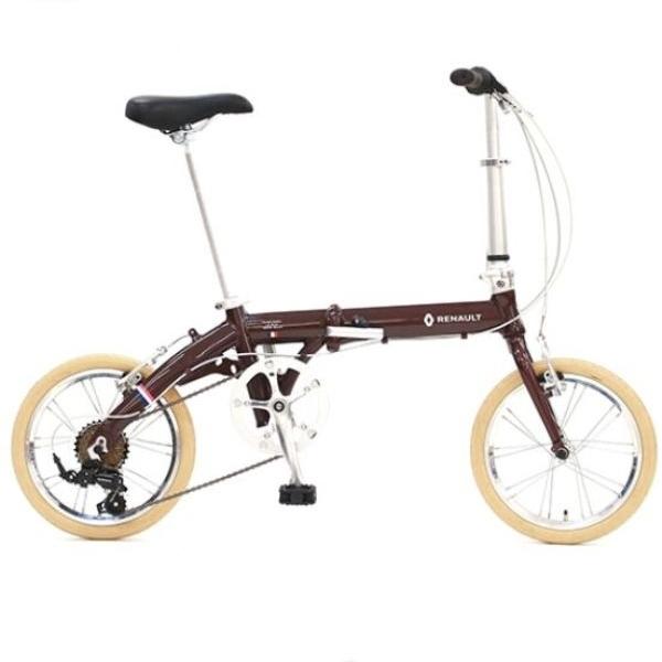 折り畳み自転車 RENAULT LIGHT9 Nouveau 16インチ AL折りたたみバイク ブラウン ルノー(AL-FDB166)