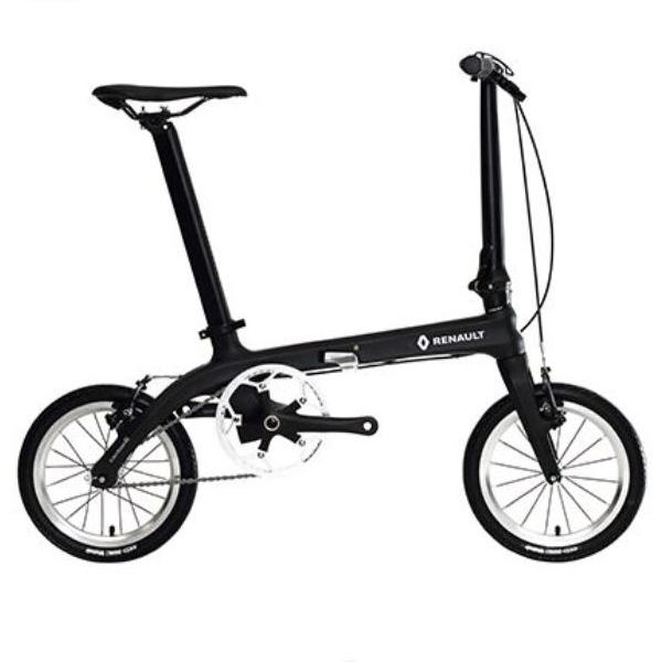 送料無料 折り畳み自転車 RENAULT Carbon6 14インチ コンパクト折りたたみバイク ブラック (Carbon6 ) ルノー
