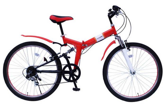 ミムゴ フィールドチャンプ Wサスペンション折畳自転車 26インチ レッド MG-FCP266E MIMUGO FIELD CHAMP MG-FCP266Eフォールディングバイク 365 【送料無料・メーカー直送・代引き不可】