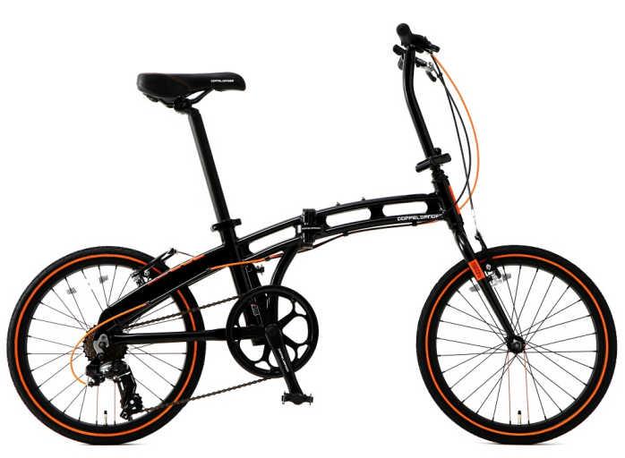 折り畳み自転車 ドッぺルギャンガー 20インチアルミ折りたたみ自転車7段変速付 202-S-DP (DOPPELGANGER 202-S-DP blackmax besten dank) 折畳み自転車【送料無料・メーカー直送・代引不可】