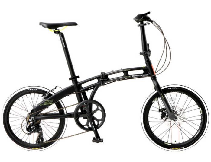 折り畳み自転車 ドッぺルギャンガー 20インチアルミ折りたたみ自転車7段変速付 211-R-GY (マットブラック×ネオンイエロー) (DOPPELGANGER 211-R-GY blackmax assaultpack) 折畳み自転車【送料無料・メーカー直送・代引不可】