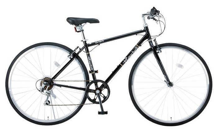 クロスバイク Raychell CR-7007R (ブラック 35652) レイチェル オオトモ 700Cクラスカルクロスバイク 【送料無料・メーカー直送・代引不可】