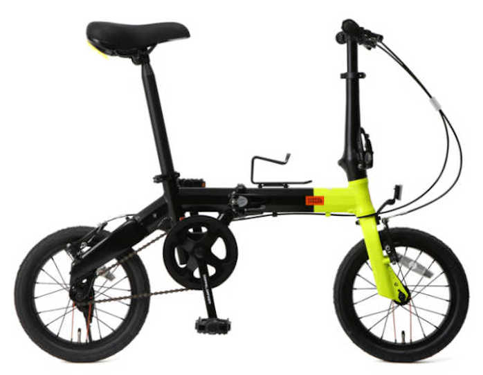 折り畳み自転車 ドッぺルギャンガー 14インチアルミ折りたたみ自転車 140-S-YL (ネオンイエロー×ブラック) (DOPPELGANGER 140-S-YL HaKoVelo) 折畳み自転車【送料無料・メーカー直送・代引不可】