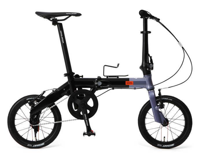 折り畳み自転車 ドッぺルギャンガー 14インチアルミ折りたたみ自転車 140-H-GY (メタリックグレー×ブラック) (DOPPELGANGER 140-H-GY HaKoVelo) 折畳み自転車【送料無料・メーカー直送・代引不可】